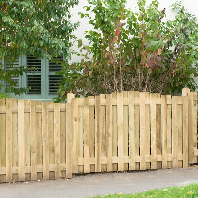 "3ft 7"" High Forest Decorative Hit and Miss Fence Panels - Pressure Treated"