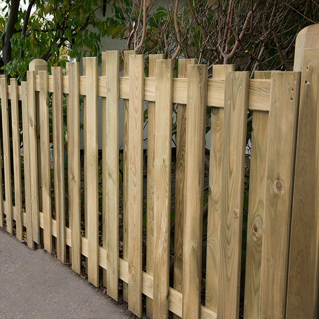 "3ft 7"" High Forest Decorative Hit and Miss Fence Panels - Dome Top"