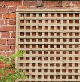 6ft by 6ft (1800mm x 1800mm) Forest Premium Framed Trellis - Pressure Treated