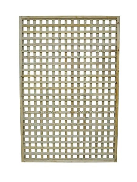 4ft by 6ft (1200mm x 1800mm) Forest Premium Framed Trellis - Pressure Treated