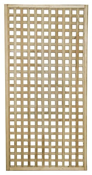 3ft by 6ft (900mm x 1800mm) Forest Premium Framed Trellis - Pressure Treated