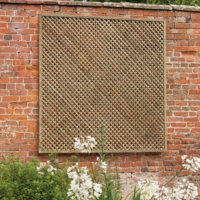 5ft High (1500mm) Forest Wisley Framed Trellis - Pressure Treated