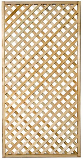 3ft by 6ft (900mm x 1800mm) Forest Rosemore Lattice Trellis - Pressure Treated
