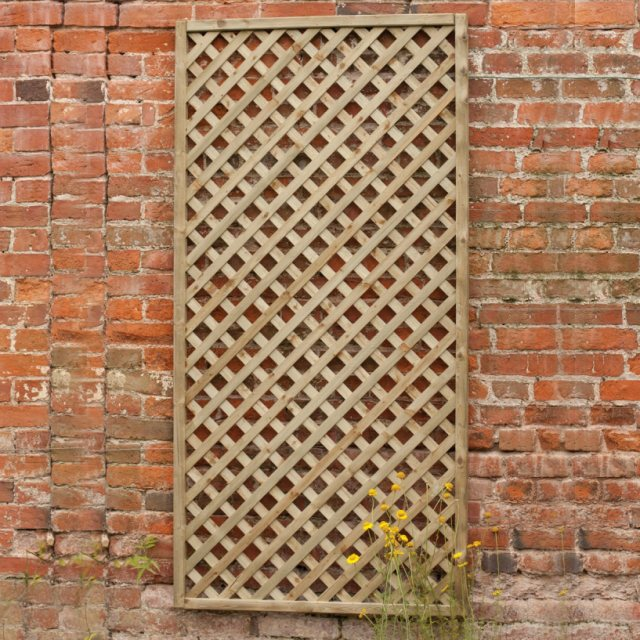 2ft x 6ft (600mm x 1800mm) Forest Rosemore Lattice Trellis - Pressure Treated