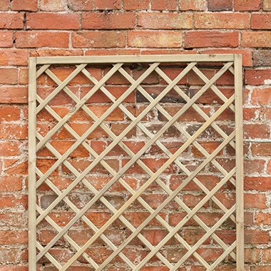 6ft x 6ft (1800mm x 1800mm) Forest Hidcote Diamond Lattice Trellis - Pressure Treated