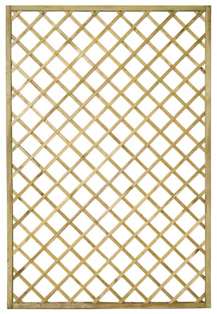 4ft x 6ft (1200mm x 1800mm) Forest Hidcote Diamond Lattice Trellis - Isolated view