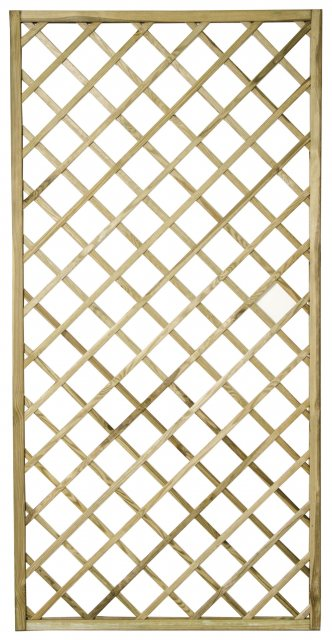 3ft x 6ft (900mm x 1800mm) Forest Hidcote Lattice Trellis - Isolated view