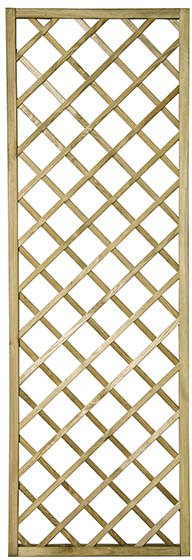 2ft x 6ft (600mm x 1800mm) Forest Hidcote Lattice Trellis - Pressure Treated
