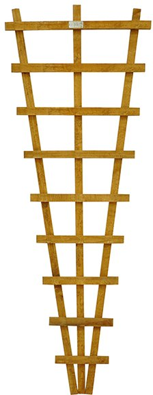 6ft High (1830mm) Forest Heavy Duty Fan Trellis - Isolated