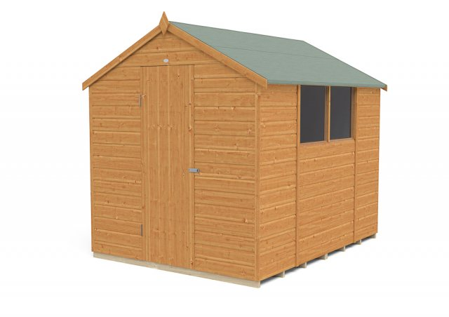 6x8 Forest Shiplap Shed - Front view, door open