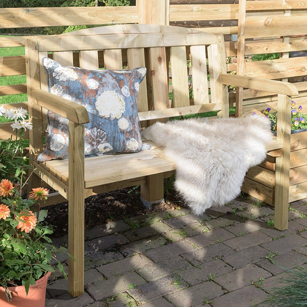 Grange Classic Double Garden Bench - in situ