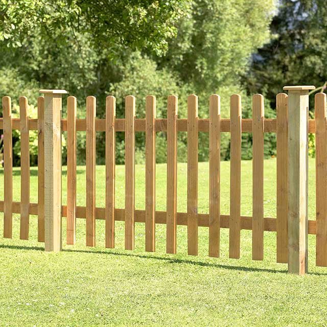 3ft High 900mm Forest Pale Fence Panel Elbec Garden