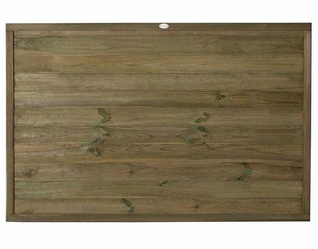 4ft High (1220mm) Forest Horizontal Tongue and Groove Fence Panel - Pressure Treated