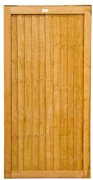 6ft High  Forest Board Gate - isolated view