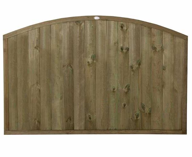 4ft High Forest Domed Top Tongue and Groove Panel - Pressure Treated