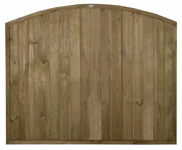 5ft High Forest Domed Top Tongue and Groove Panel - Pressure Treated