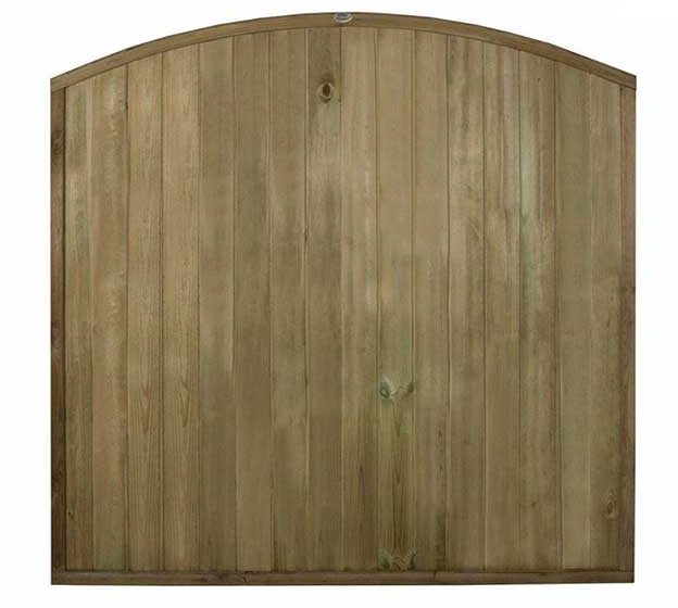 6ft High Forest Domed Top Tongue and Groove Panel - Pressure Treated