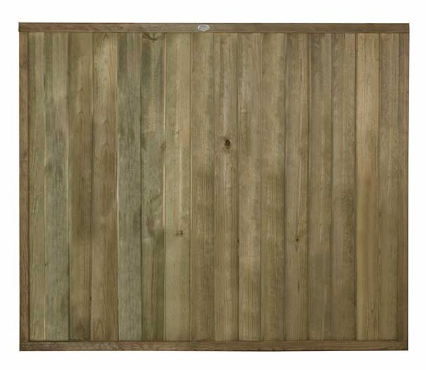 5ft High Forest Vertical Tongue and Groove Fence Panel - Pressure Treated