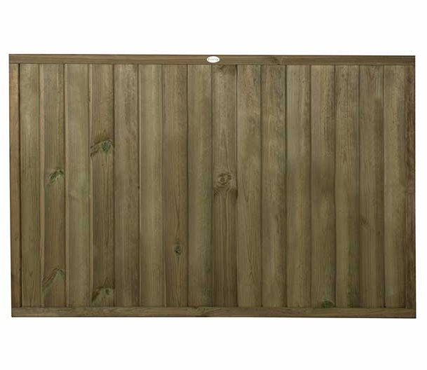 4ft High (910mm) Forest Vertical Tongue and Groove Fence Panel - Pressure Treated