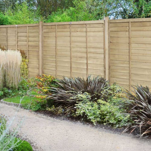 6ft Forest Pressure Treated Superlap Fence Panel