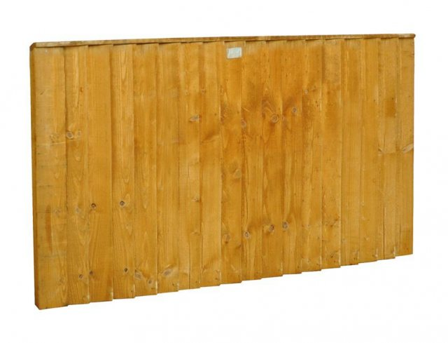 3ft High Forest Featheredge Fence Panel - Angled view