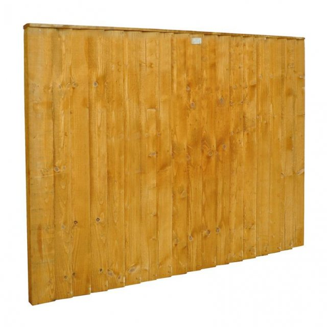 4ft High Forest Featheredge Fence Panel - Angled view