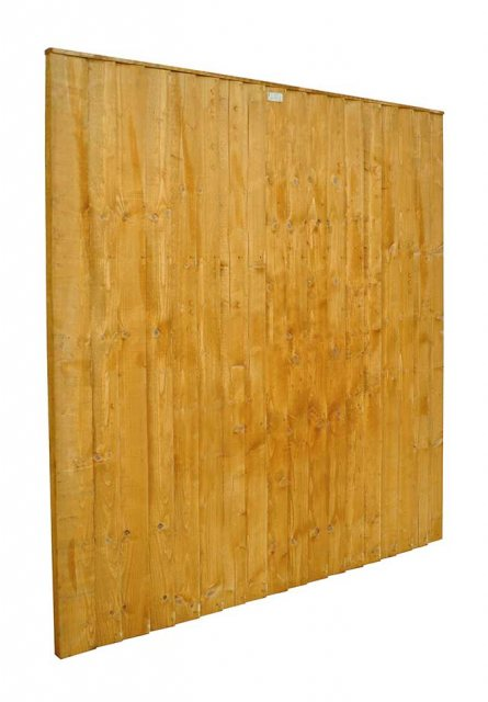 6ft High (1850mm) Forest Featheredge Fence Panel - Angled