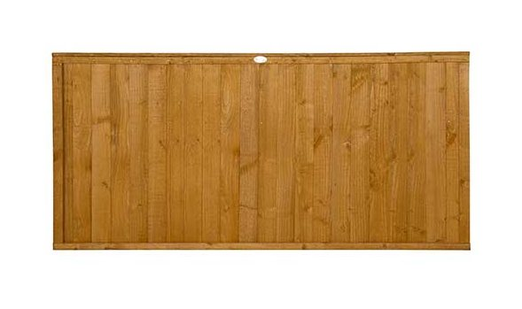 3ft High Forest Closeboard Fence Panel - Isolated view