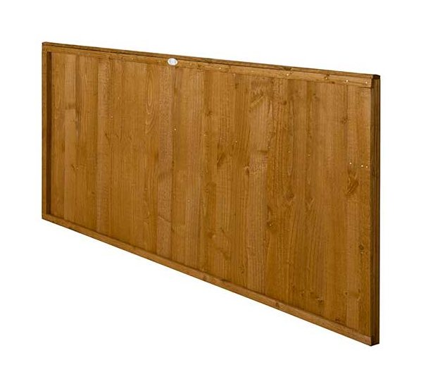 3ft High Forest Closeboard Fence Panel - Angled view