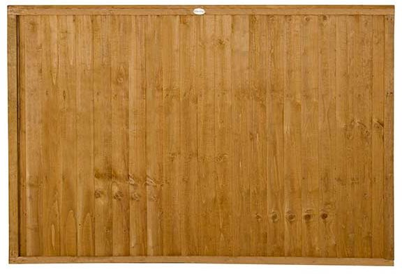 4ft High Forest Closeboard Fence Panel - Isolated view