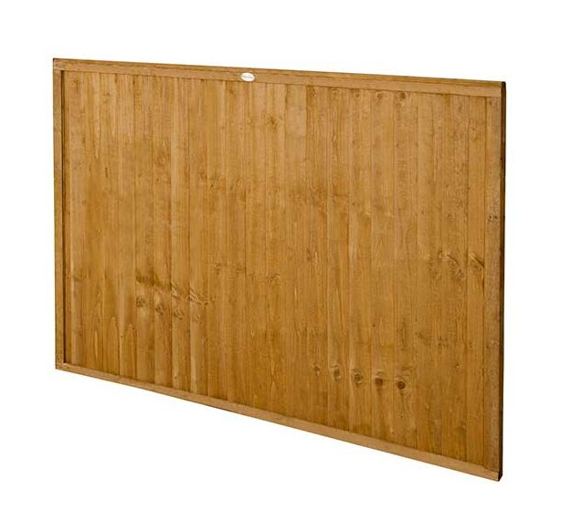 4ft High Forest Closeboard Fence Panel - Angled view