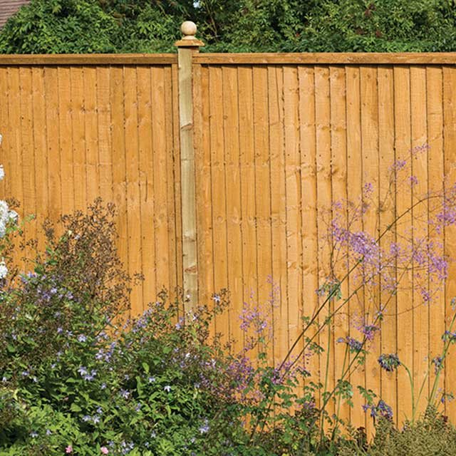 5ft High (1520mm) Forest Closeboard Fence Panel