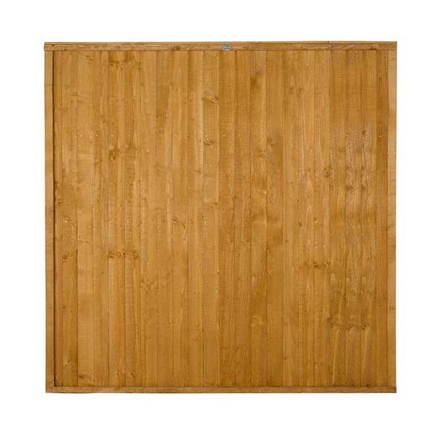 6ft High Forest Closeboard Fence Panel - Isolated view