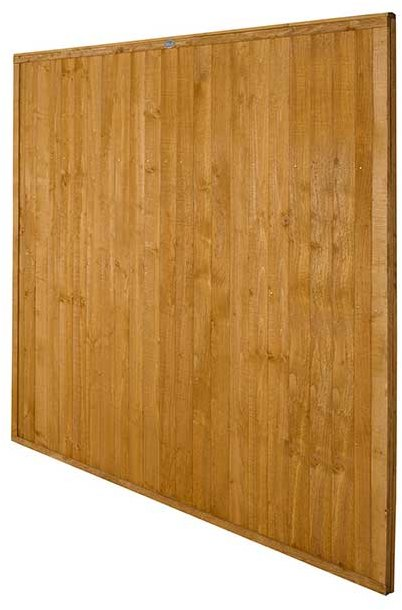 6ft High Forest Closeboard Fence Panel - Angled view