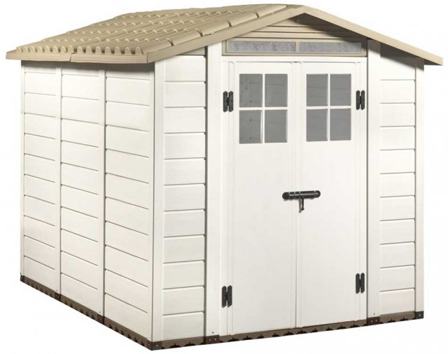 Shire Tuscany EVO 240 Plastic Shed - isolated