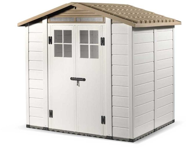 Shire Tuscany EVO 200 Plastic Shed - doors closed