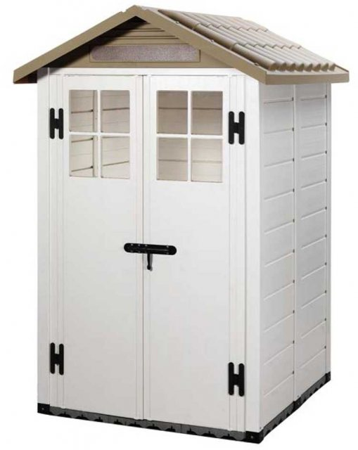 Shire Tuscany EVO 120 Plastic Shed - isolated