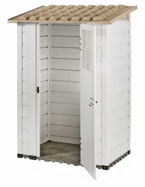 Shire Tuscany EVO 100 Plastic Pent Store - isolated
