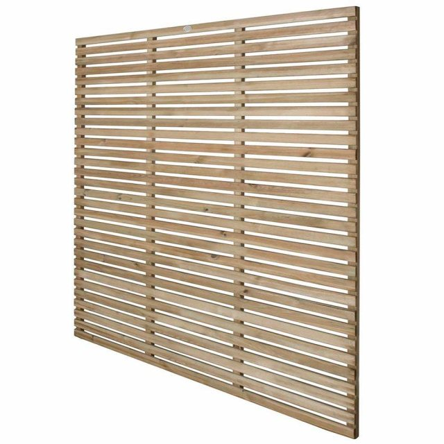 6ft High Forest Slatted Fence Panel - Angles view