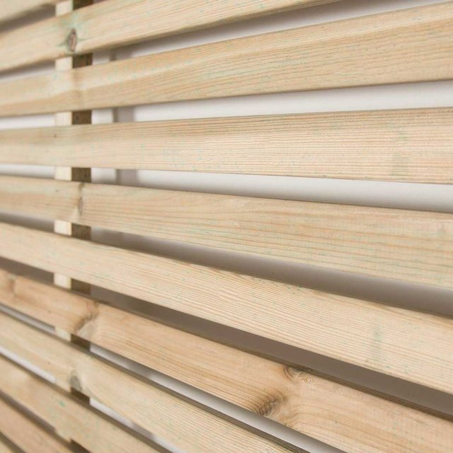6ft High  Forest Slatted Fence Panel  - detail of slats
