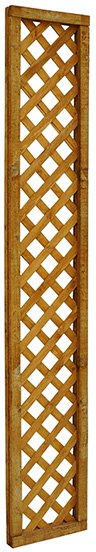 Forest Diamond Lattice Fence Topper - angled view