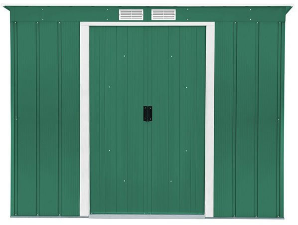 8 x 4 Sapphire Pent Metal Shed in Green
