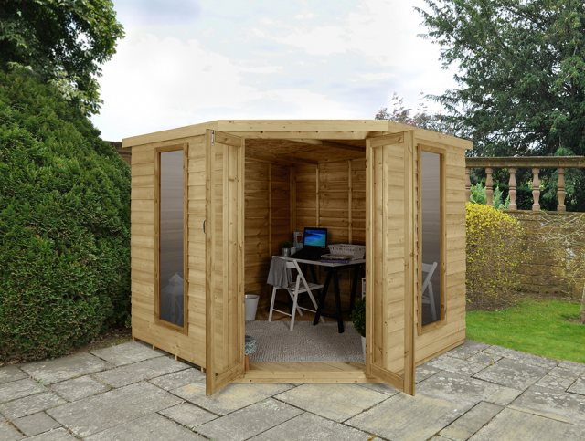 8 x 8 Forest Oakley Corner Summerhouse - Pressure Treated
