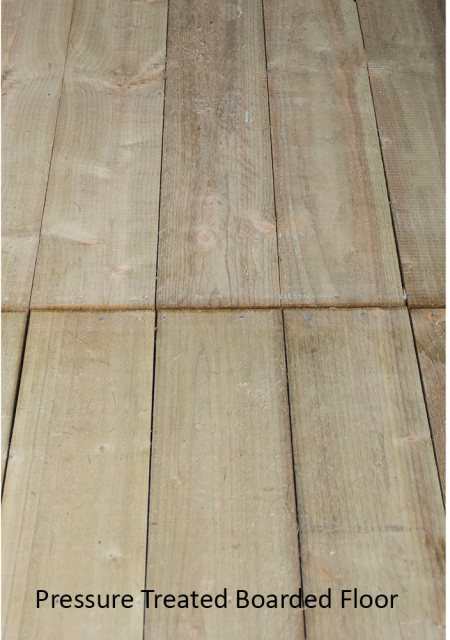 7x7 Forest Overlap Corner Shed - 16mm pressured treated boarded floor