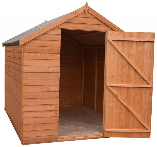 7 x 5 Shire Value Overlap Pressure Treated Shed - Windowless - Door open