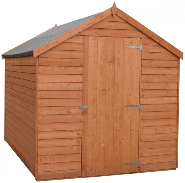 7 x 5 Shire Value Overlap Pressure Treated Shed - Windowless - Door closed
