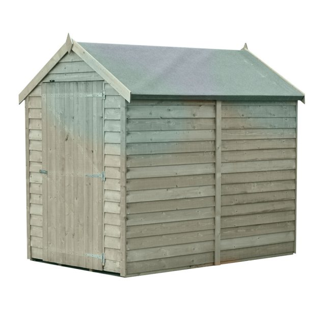 6 x 4 Shire Value Overlap Pressure Treated Shed with Single Door - Windowless