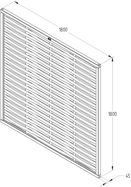 6ft High (1810mm) Forest Woven Fence Panel - Pressure Treated  - Specification