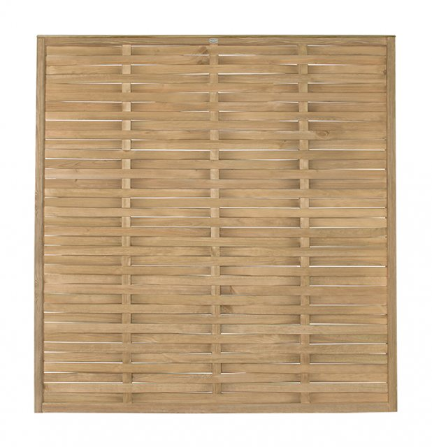 6ft High (1810mm) Forest Woven Fence Panel - Pressure Treated  - front view