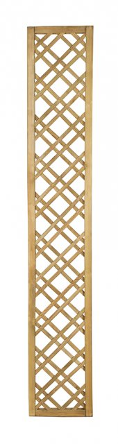 6ft High x 1ft Forest Double Slatted Diamond Lattice Trellis - Pressure Treated - isolated front vie